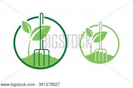 Organic Fertilizer Emblem - Farming Agriculture Useful Component - Naturally Occurring Organic Anima