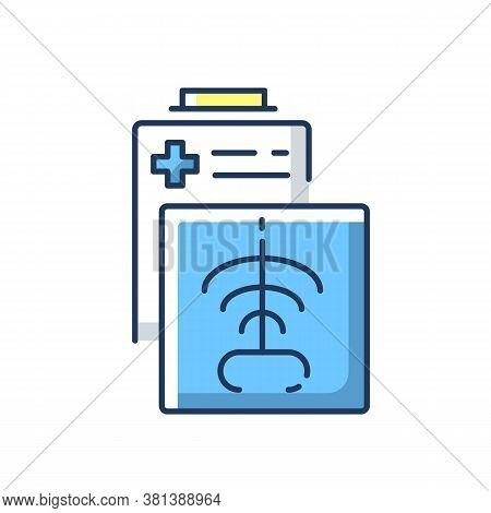 Radiology Department Rgb Color Icon. Radiation Medicine. Radiologic Technologist. Ct Scan. X Rays Ra