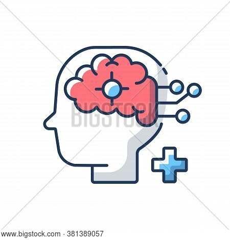 Neurological Department Rgb Color Icon. Neurological Science And Surgery. Brain Disorders. Neurology