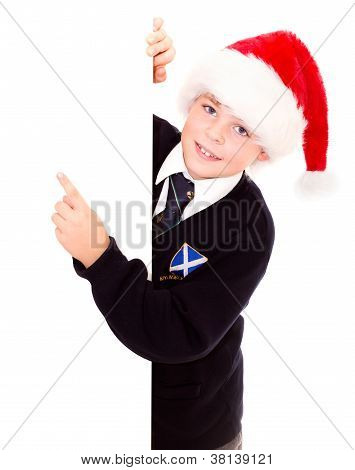 Cute Schoolboy Waiting For The Holidays. Wearing In A School Uniform.