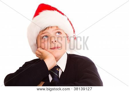 Cute Schoolboy Waiting For The Holidays.