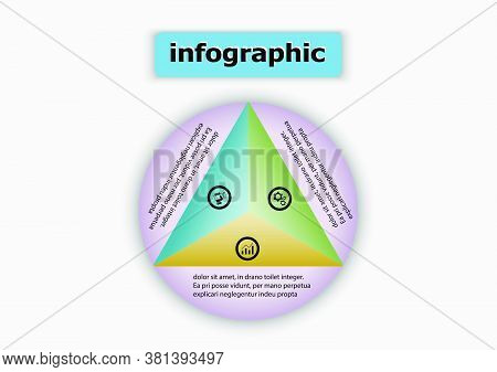 Circle And Triangle Vector Design Icon Template. Planning Design Presentation Business Infographic T