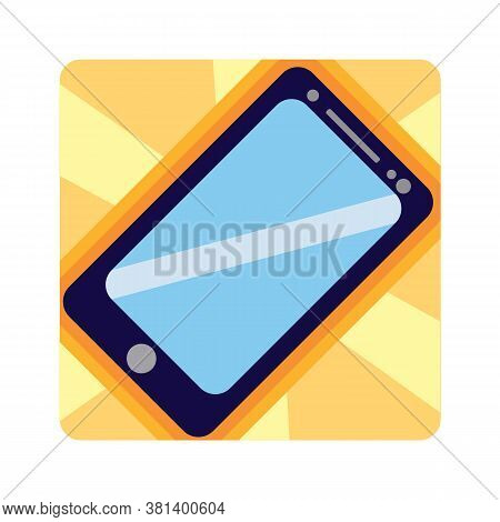 Isolated Cute Animated Smartphone Icon Colorful - Vector