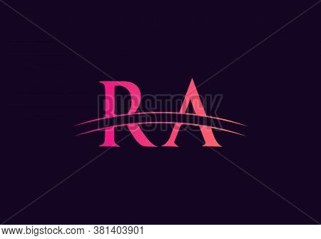 Ra Logo For Business And Company Identity. Creative Letter Ra Logo Vector Template.