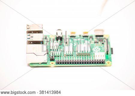 Kiev, Ukraine - August 13th, 2020: General Purpose Input-output (gpio) Connector On Powered Single-b