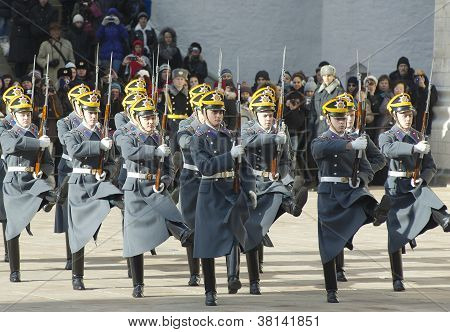 Parade Of Presidential Guards. The Kremlin. Moscow. Russia