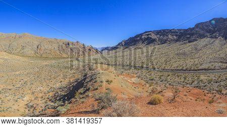 Panoramic View From The Arizona Desert In Winter
