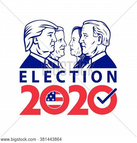 Aug 18, 2020, Auckland, New Zealand: Illustration Of American Presidential Election 2020 Showing Rep