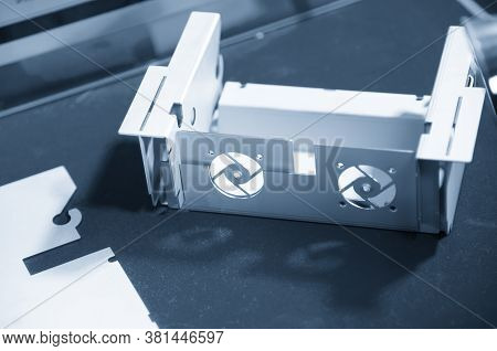 The Power Supply Box  Form Sheet Metal Plate Production. The Hi Technology Manufacturing Process Of