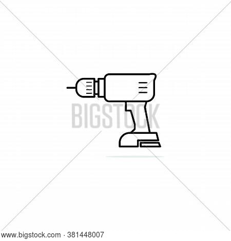Drill Icon Isolated On White Background. Drill Icon Trendy And Modern Drill Symbol. Drill Icon Simpl