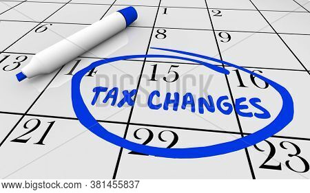 Tax Changes Reform Impact on Your Return Amount Due IRS 3d Illustration