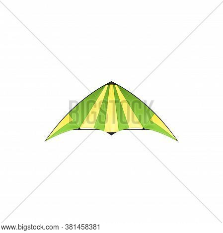 Kite Isolated Uttarayan Or Maghi Festival Symbol Isolated Icon. Vector Kids Toy With Wings In Yellow