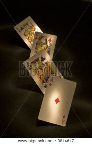 A game of cards.The best hand you can have poster