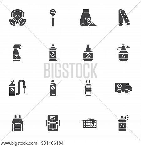 Pest Control Vector Icons Set, Modern Solid Symbol Collection, Sanitary Disinfection Filled Style Pi