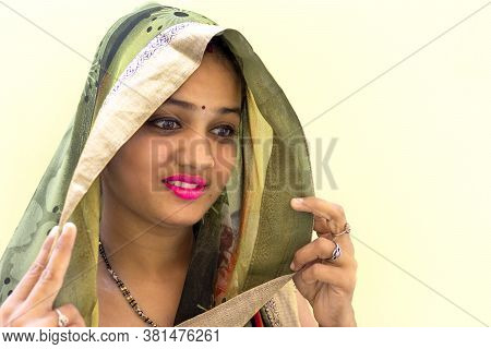 Closeup Of Cute Indian Woman, Portrait Of Young Woman , Sexy Asian Woman, Beautiful Young Woman Indo