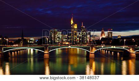 Night View Of Frankfurt