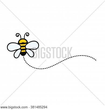 Cute Bee Character Logo Vector