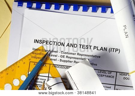Inspection and Test plan abstract- many uses in the oil and gas industry. poster
