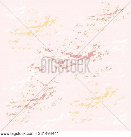 Nude And Rose Color Abstract Pattern At The Soft Pink Background. Design For Wallpaper, Fabric, Text