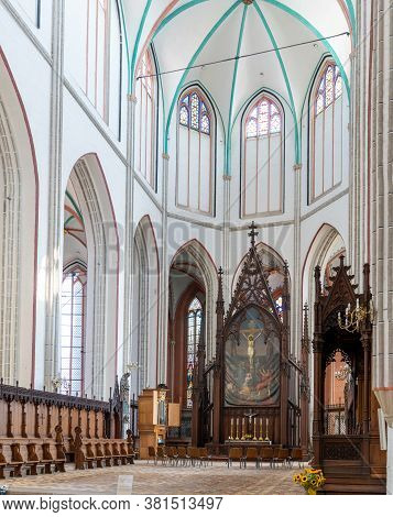 Schwerin, M-v / Germany - 10 August 2020: Interior View Of The Cathedral Of Schwerin