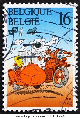 a stamp printed in the Belgium shows Cubitus the Dog, by Luc Dupanloup, circa 1994 poster