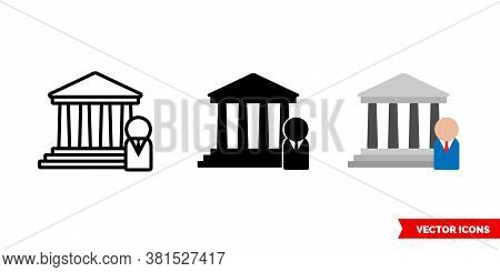 Founder Icon Of 3 Types Color, Black And White, Outline. Isolated Vector Sign Symbol.