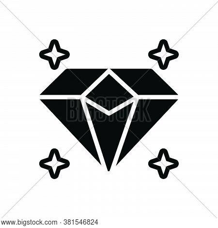 Black Solid Icon For Diamond Sparkler Shiner Luxury Precious Jewel Gem Rhinestone Pawnshop Ornament