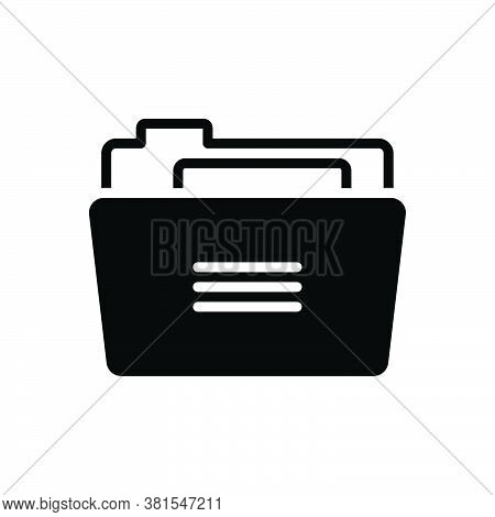 Black Solid Icon For Folder Binders  Dossier Portfolio Binder Directory Repository Archives  Documen