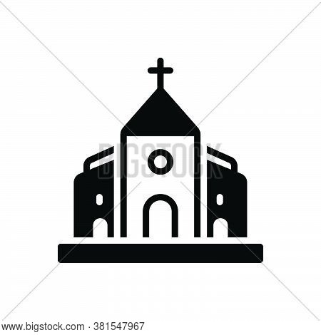 Black Solid Icon For Church Belief Believe Bible Faith Holy Building Cathalic Religion Traditional