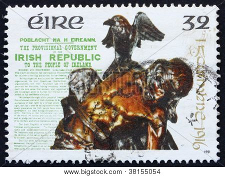 Postage stamp Ireland 1991 Statue of Cuchulainn by Oliver Sheppard