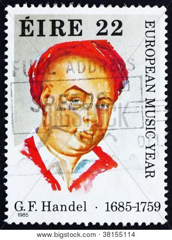 Postage stamp Ireland 1985 George Frideric Handel, Composer