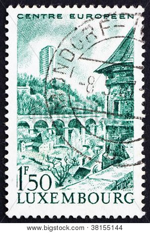 Postage stamp Luxembourg 1966 Tower Building, Kirchberg