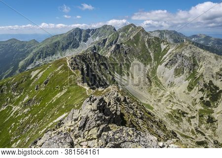 Banikov And Tri Kopy Peaks From Placlivo, Western Tatras Mountains, Slovak Republic. Hiking Theme. S