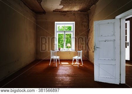 Image Of Room In The Old Abandoned Palace