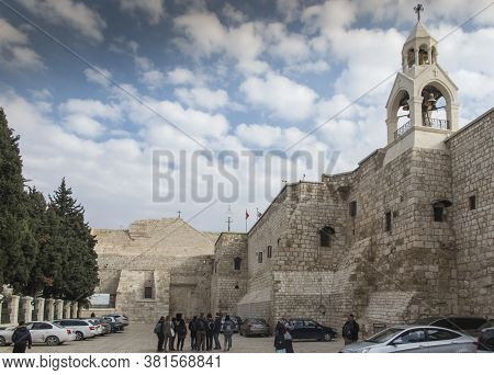 Bethlehem Israel January 28, 2020: Square In Front Of The Basilica Of The Nativity Of Jesus Christ I