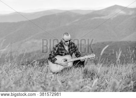 Acoustic Music. Music For Soul. Playing Music. Sound Of Freedom. In Unison With Nature. Musician Hik