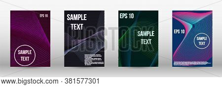 Modern Design Template. A Set Of Trendy Covers.  Geometric Template With Lines For Booklet Cover. Tr