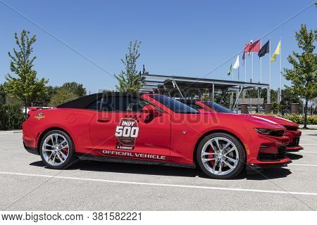 Indianapolis - Circa August 2020: Indy 500 Official Vehicle At The Gate One Entrance At Indianapolis