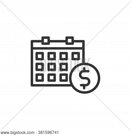 Business Payday Icon With Line Style Vector Illustration
