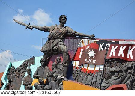 Manila, Ph - Apr 7 - Andres Bonifacio Shrine Monument On April 7, 2019 In Manila, Philippines.