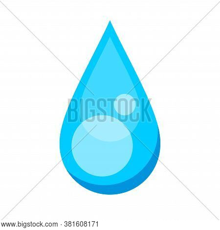 Water Drop Signs, Aqua Symbol, Icon Water Drop Shape, Droplet Blue Gel, Droplet Liquid Or Soap Gel S