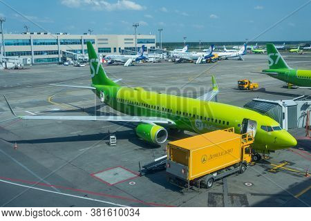 Boeing 737-800 S7 Airlines, Airport Domodedovo International Airport, Russia Moscow, 07 July 2020