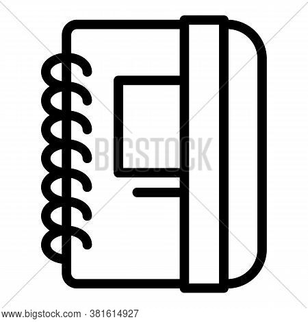 Office Notepad Icon. Outline Office Notepad Vector Icon For Web Design Isolated On White Background