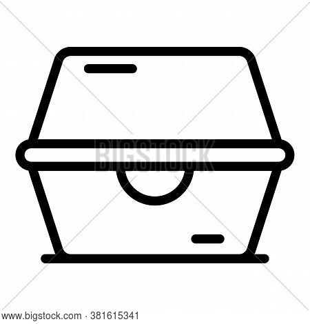 Meal Box Icon. Outline Meal Box Vector Icon For Web Design Isolated On White Background