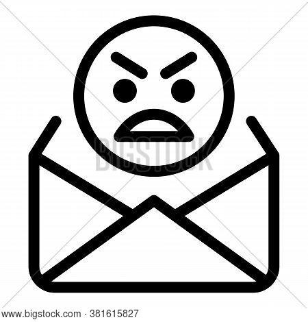 Threaten Letter Icon. Outline Threaten Letter Vector Icon For Web Design Isolated On White Backgroun