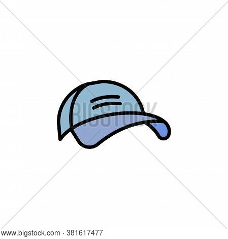 Baseball Cap Linear Vector Icon. Cap Line Thin Sign. Hat Outline Symbol. Baseball Cap Simple Logo Bl