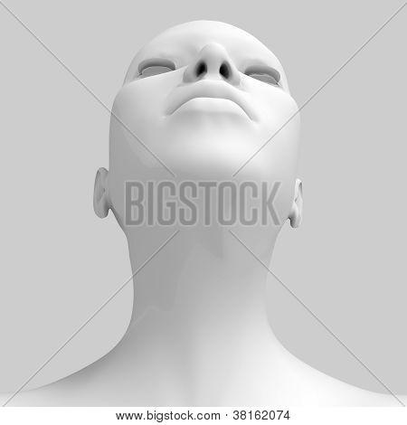 3d woman�s head