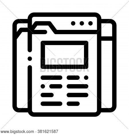 Different Pages Of Web Site Project Icon Vector. Different Pages Of Web Site Project Sign. Isolated