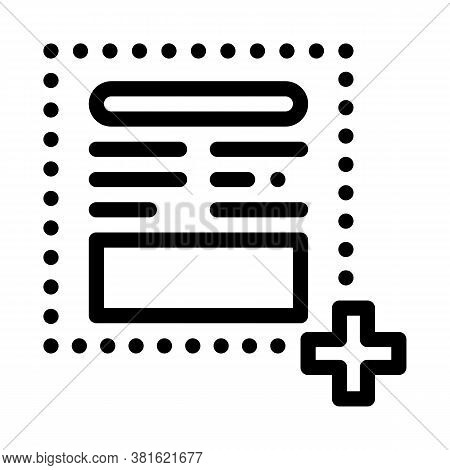 Add New Article On Web Site Icon Vector. Add New Article On Web Site Sign. Isolated Contour Symbol I