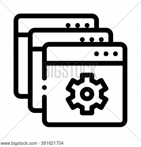 Web Site Settings Icon Vector. Web Site Settings Sign. Isolated Contour Symbol Illustration